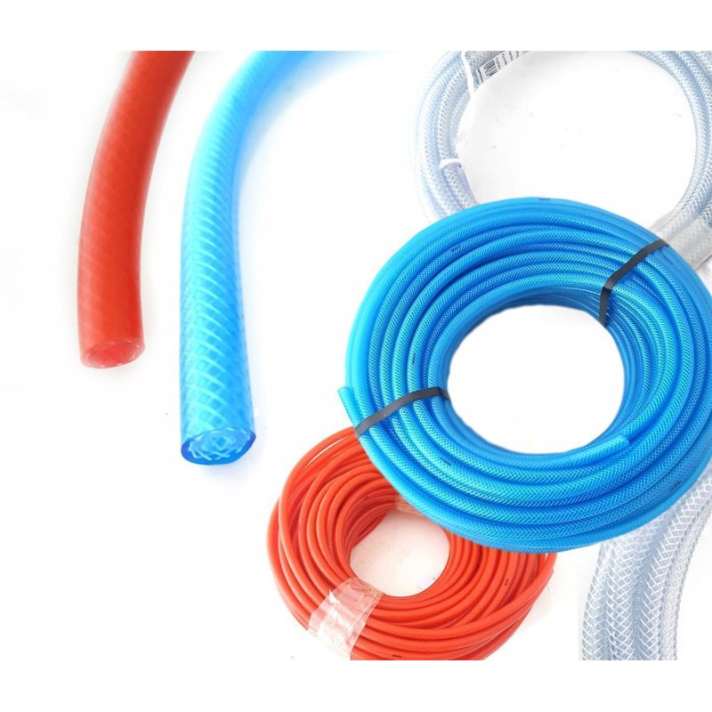 Kupplung u Druckluftschlauch PVC Gewebeschlauch Kompressorschlauch m Stecker