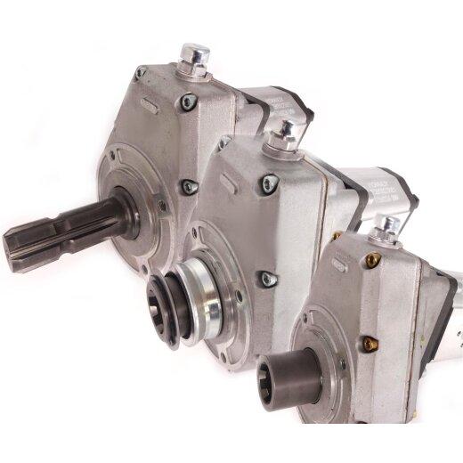 32l//min BG2 mit Vierlochflansch Zapfwellengetriebe mit Stummel und Pumpe 16ccm